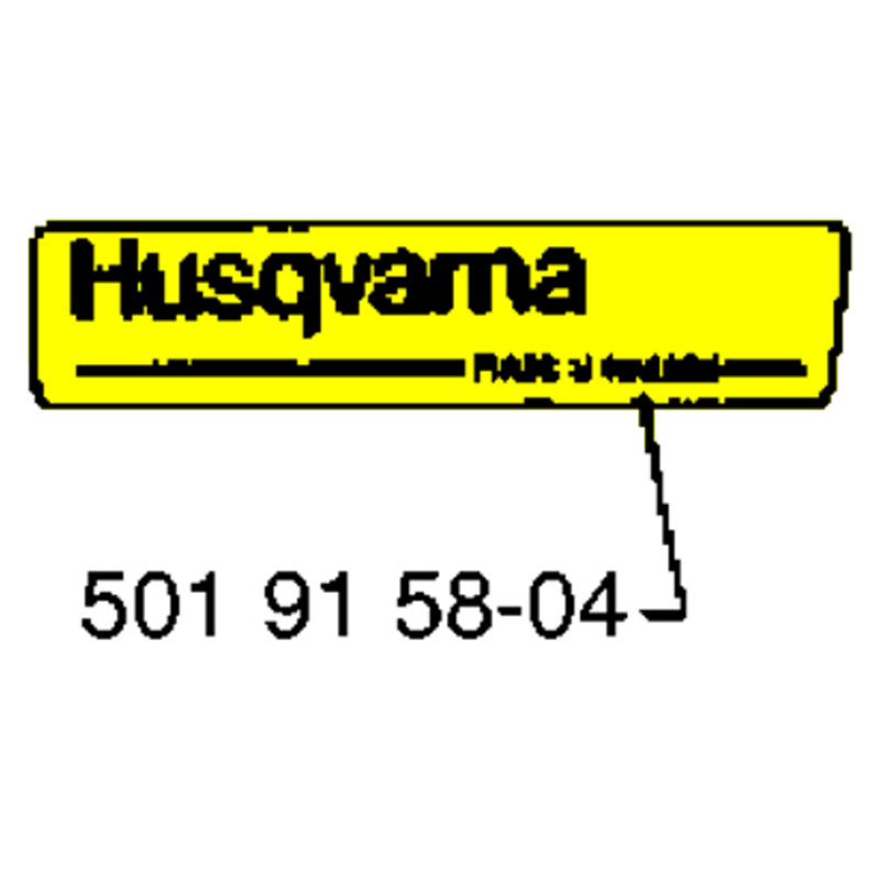 Husqvarna Decal 501915804