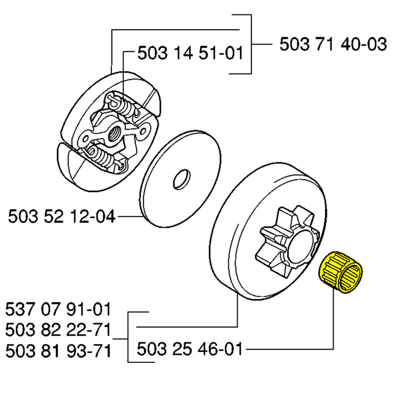 Husqvarna 503254601 Chainsaw Needle Bearing