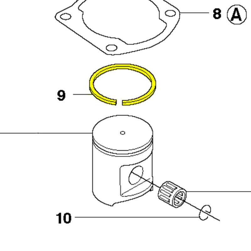 Husqvarna Piston Ring 503289015