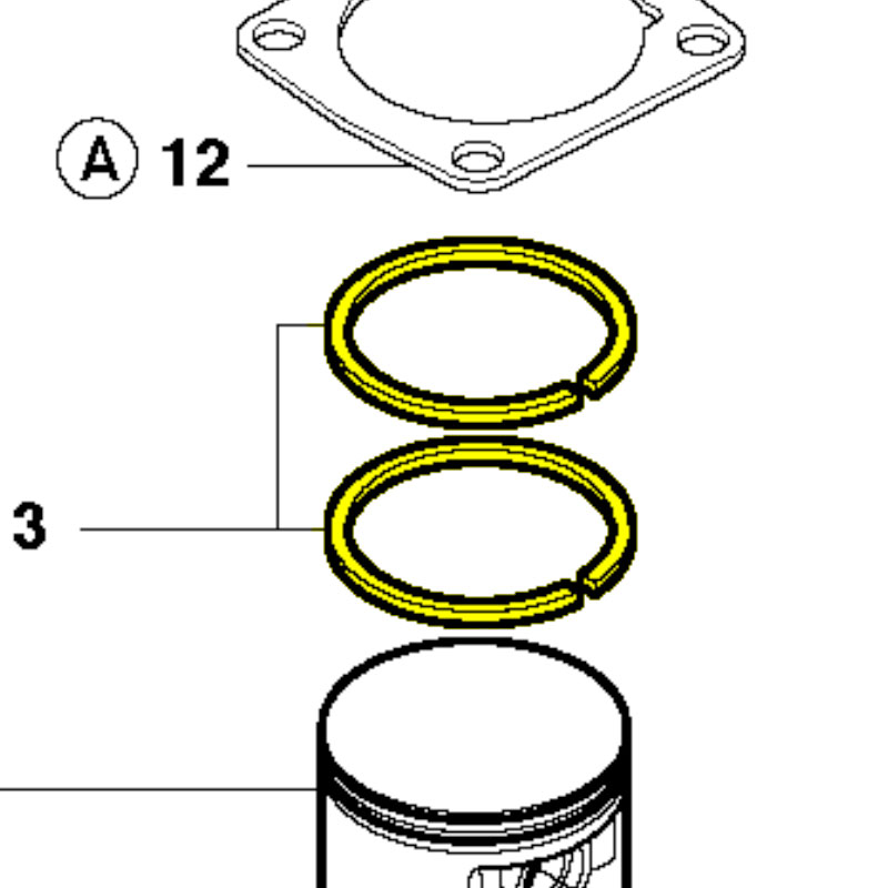 Husqvarna Piston Ring 503289026