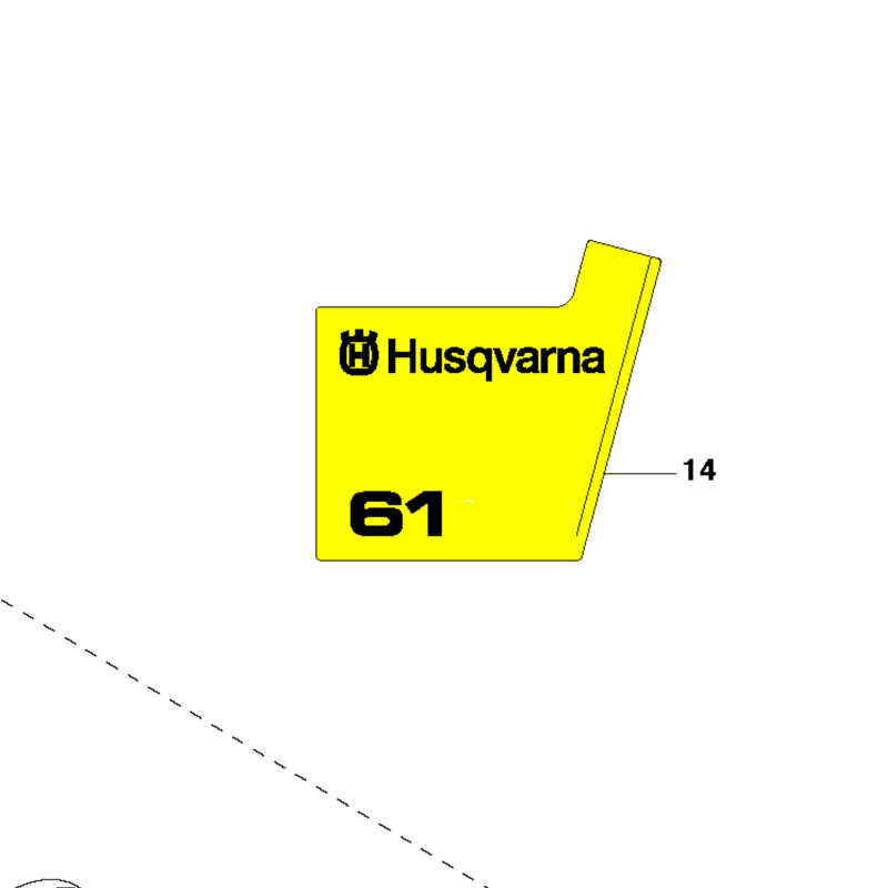 Husqvarna Decal Starter 503623901