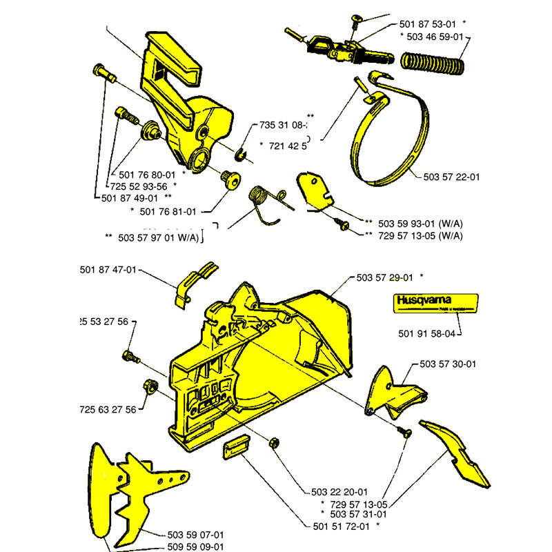 Husqvarna Chainbrake With A 503736602