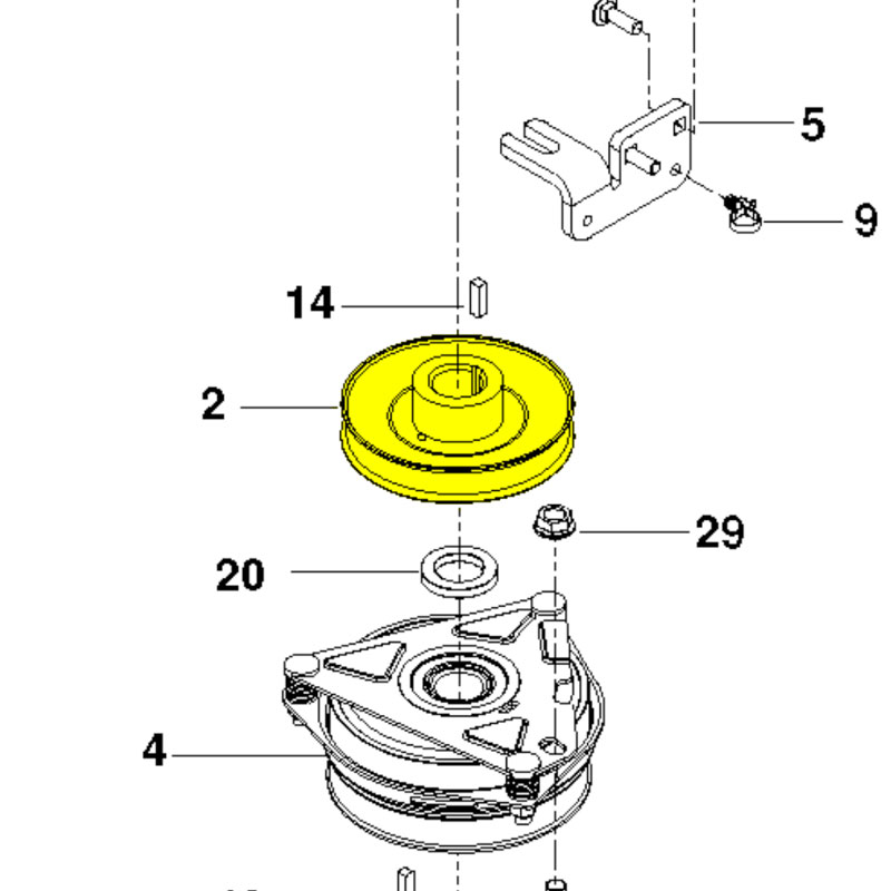 Husqvarna Pulley Engine 510019801