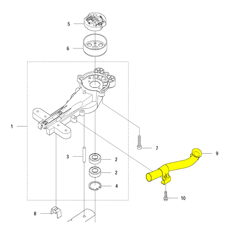 Husqvarna Exhaust Pipe Assembly 523013601