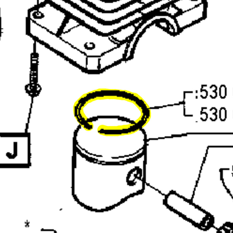 Husqvarna Piston Ring 36 530029805