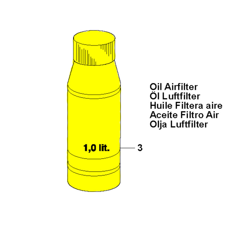 Husqvarna 596287501 Air Filter Oil
