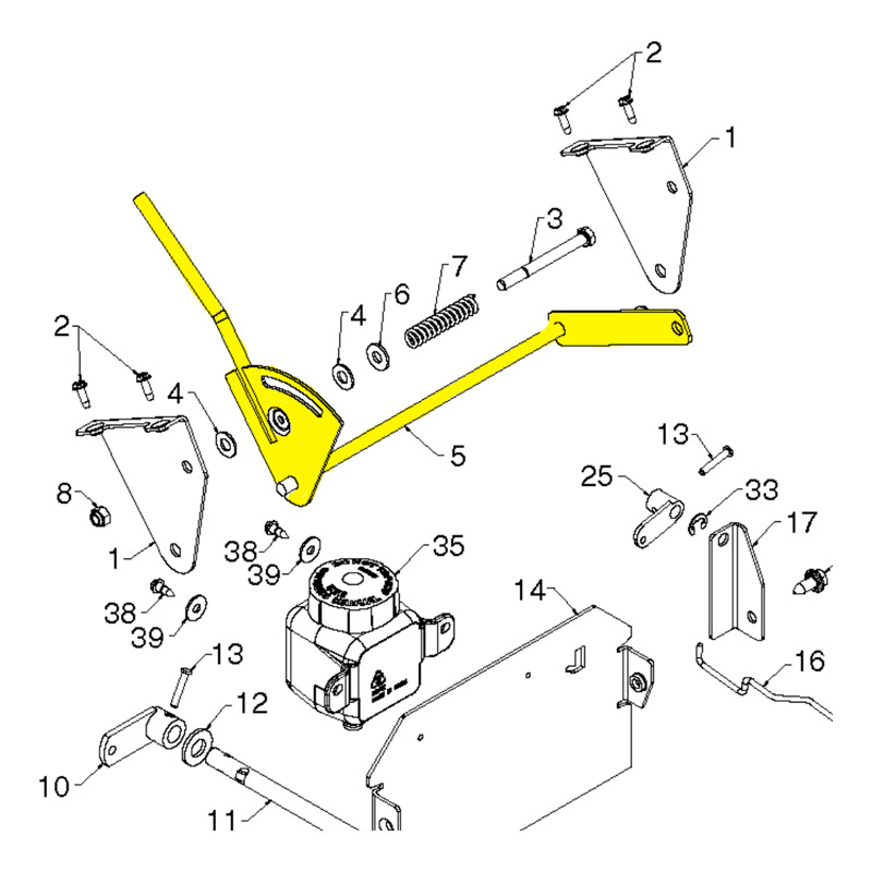 Husqvarna Lever Assembly  Speed Control 532192001