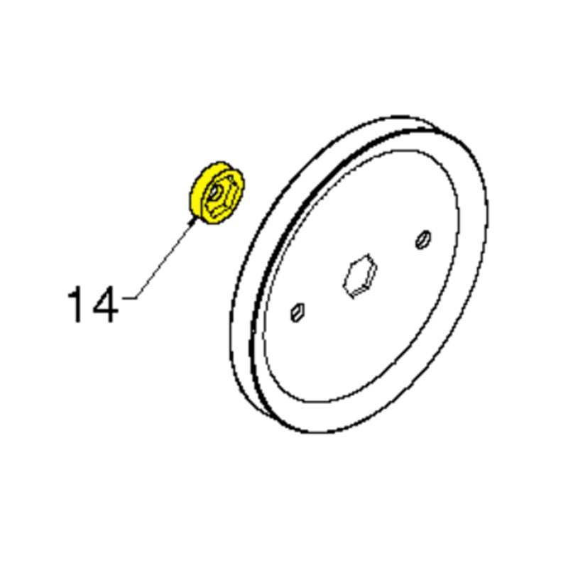 Husqvarna Sleeve Imp Pulley D-Shaft 532427154
