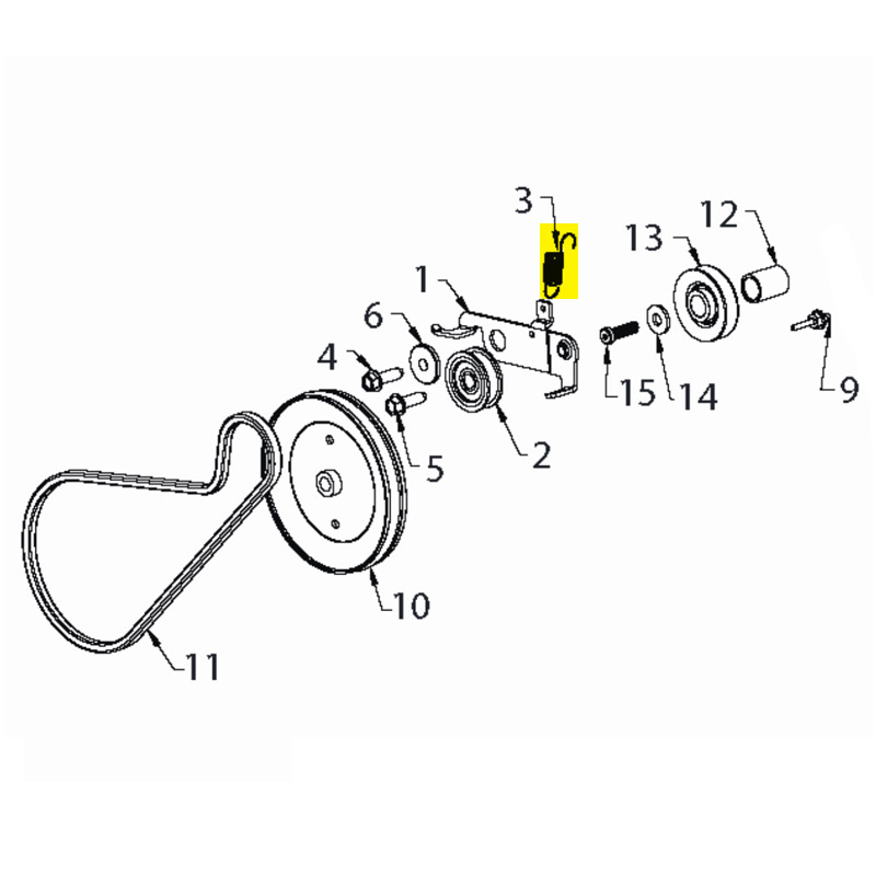 Husqvarna Spring Eidler Pulley Return 532434859