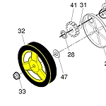 532442856 Husqvarna Rear Wheel