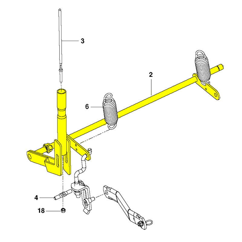 husqvarna 532448208 Shaft Lift Med Weldmt Pnt 431