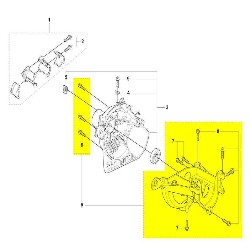 husqvarna crankcase 537041103 husqvarna parts. Black Bedroom Furniture Sets. Home Design Ideas