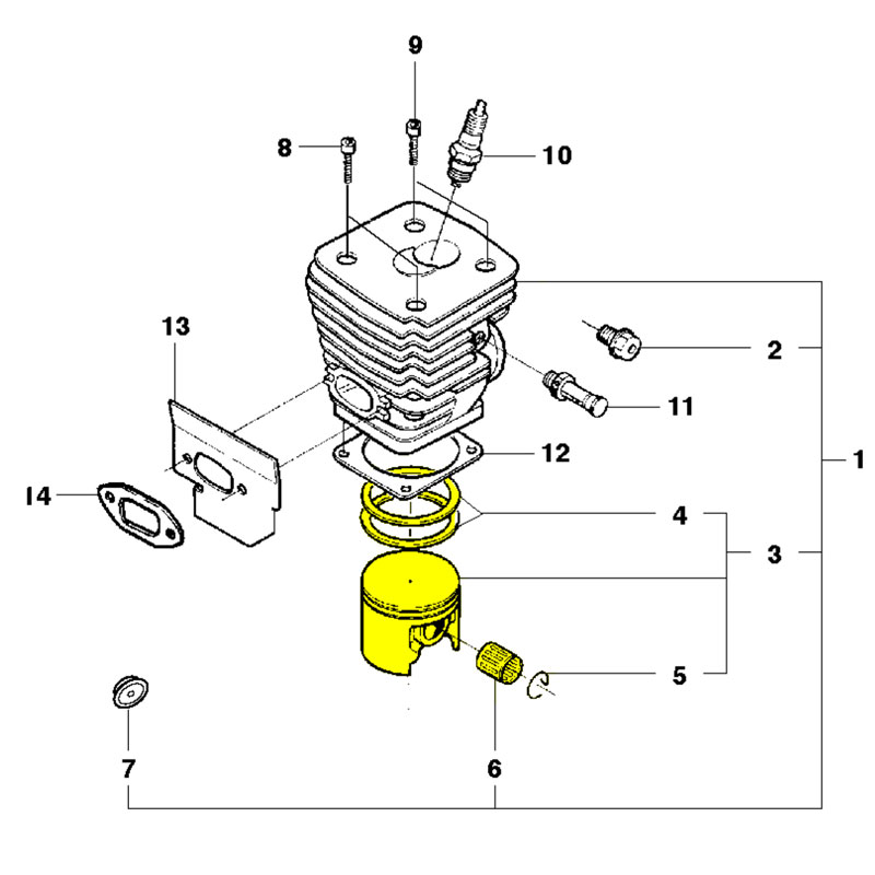 Husqvarna Piston Assembly 537137671