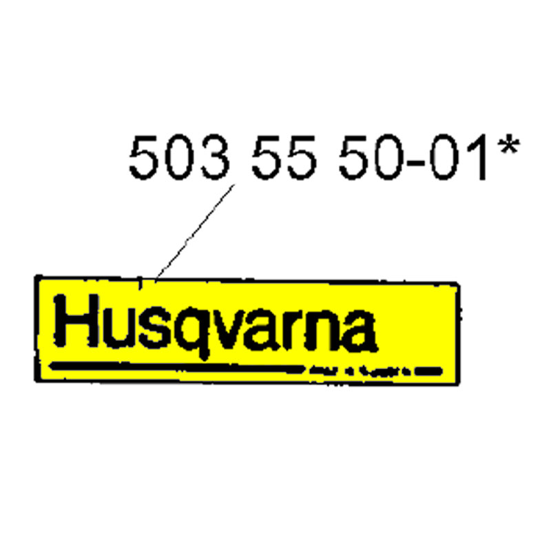 Husqvarna Label 537329501