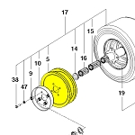 Husqvarna Traction Pulley 539938473