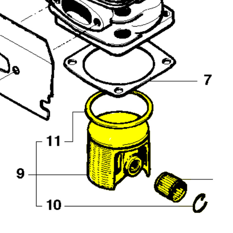 Husqvarna Piston Assembly 544224102