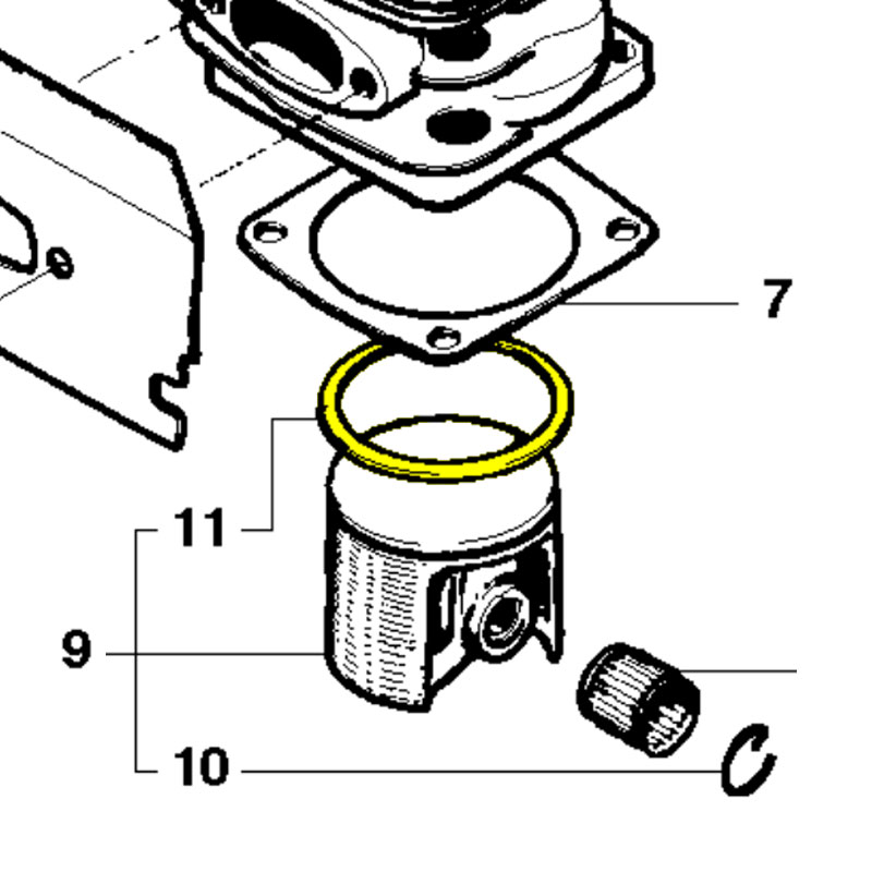 Husqvarna Piston Ring 544225101