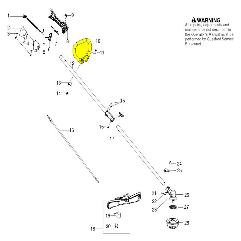 husqvarna handle loop 545042201 husqvarna parts sales com husqvarna 128ld diagrama