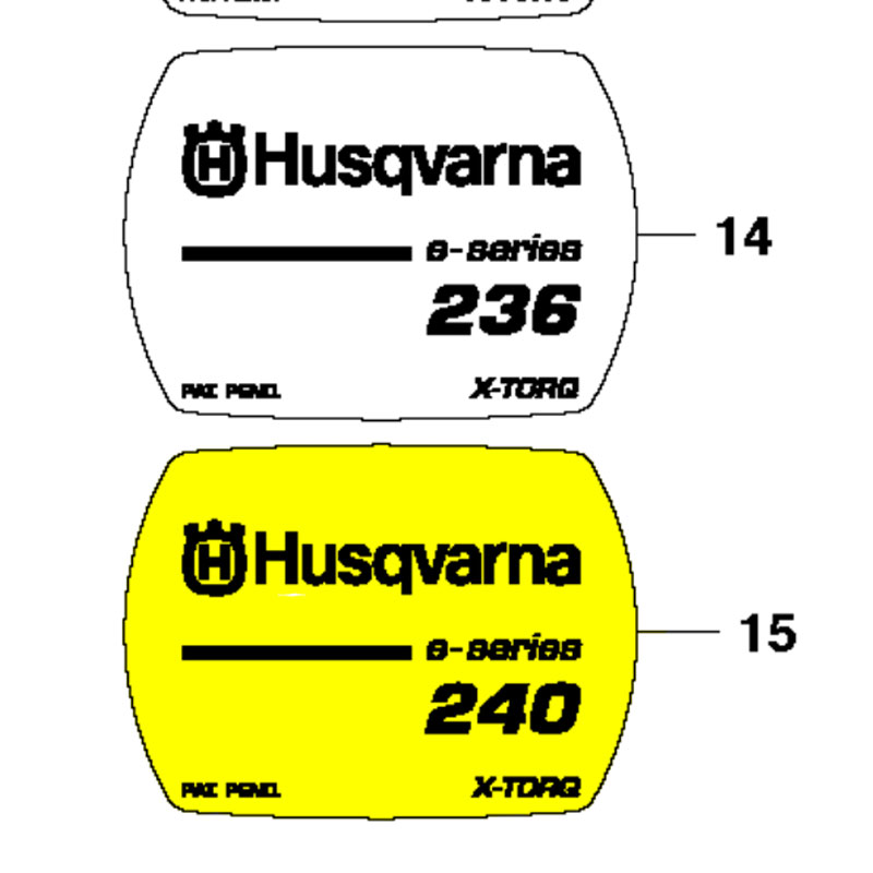 Husqvarna Decal 240E 545118501