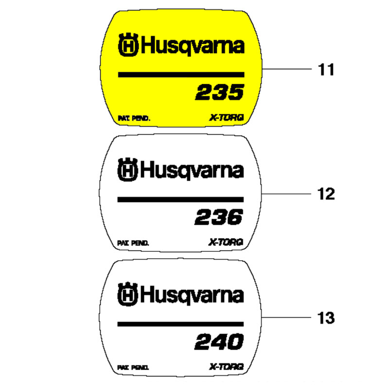 Husqvarna Decal 235 545118503