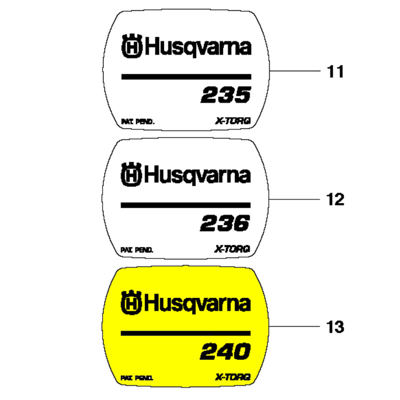 Husqvarna Decal 240 545165947