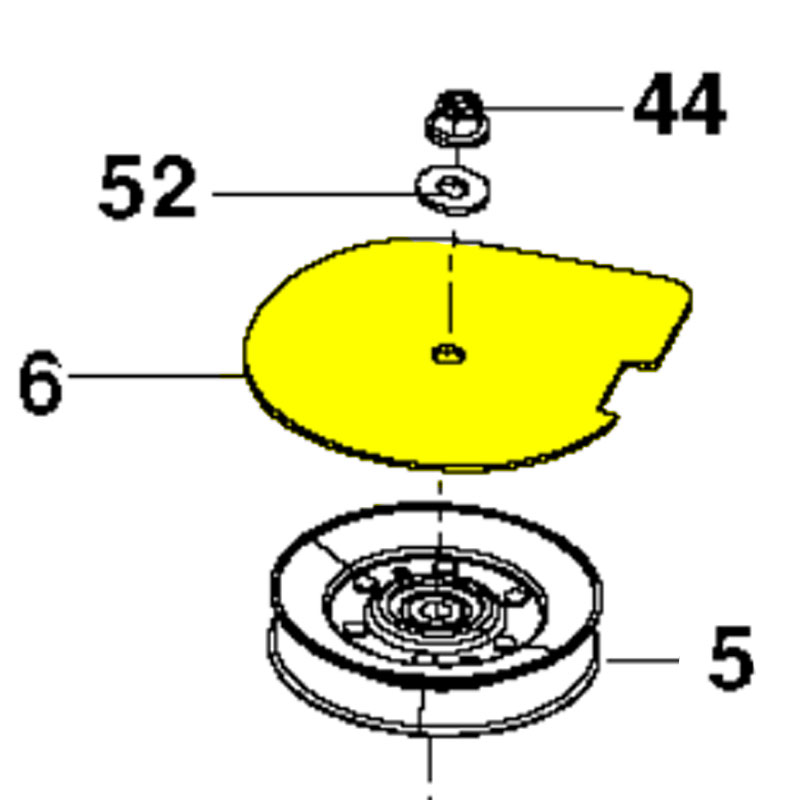 Husqvarna Cover  Pulley Black 573970402