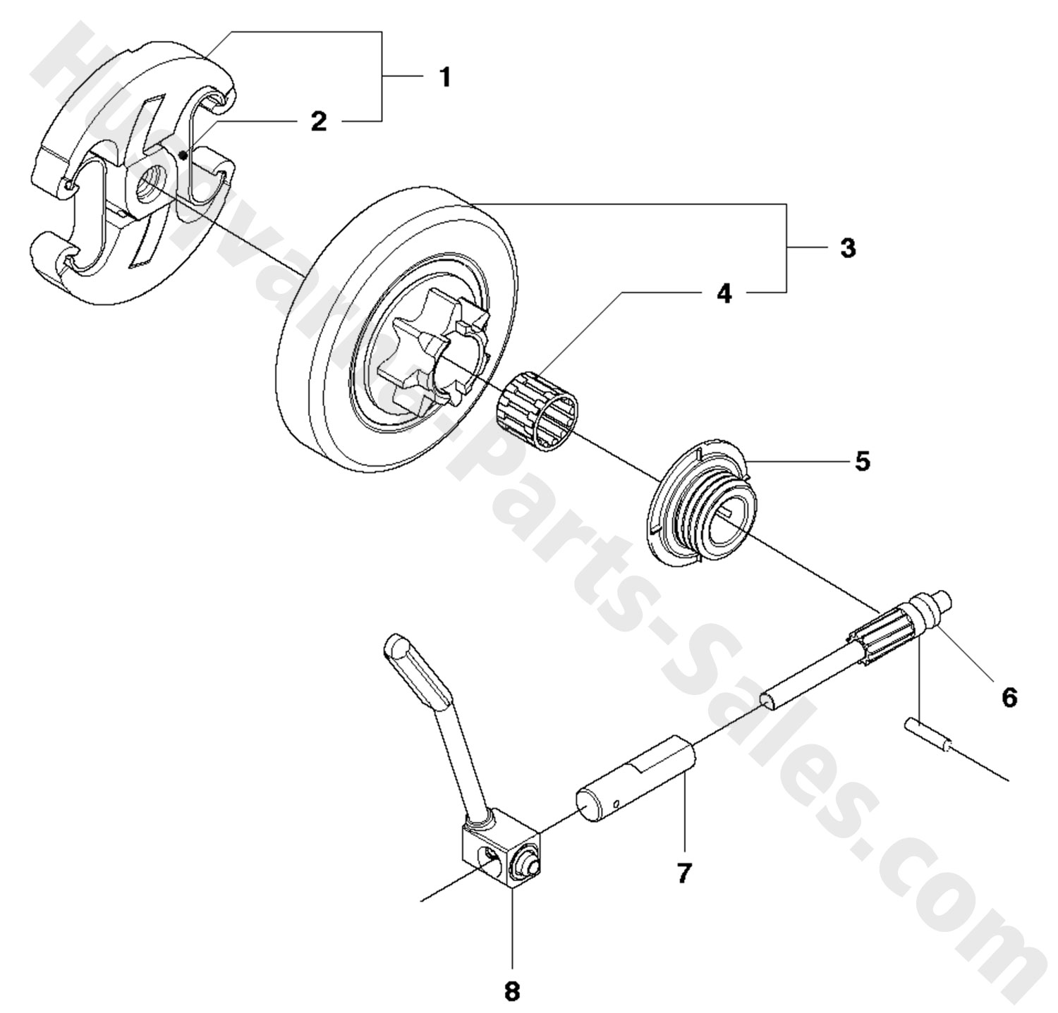 Chain Saw Clutch Oil Pump Parts