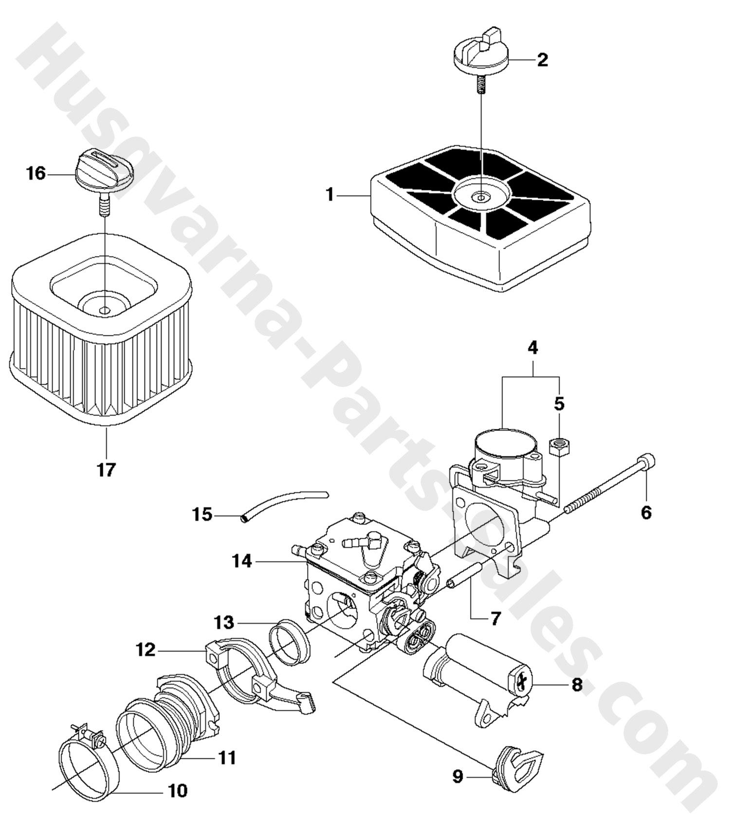 390xp husqvarna professional chain saw carburetor  u0026 air