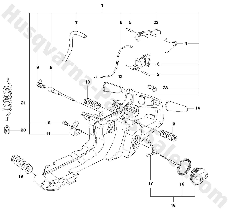 390xp husqvarna professional chain saw fuel tank handle parts
