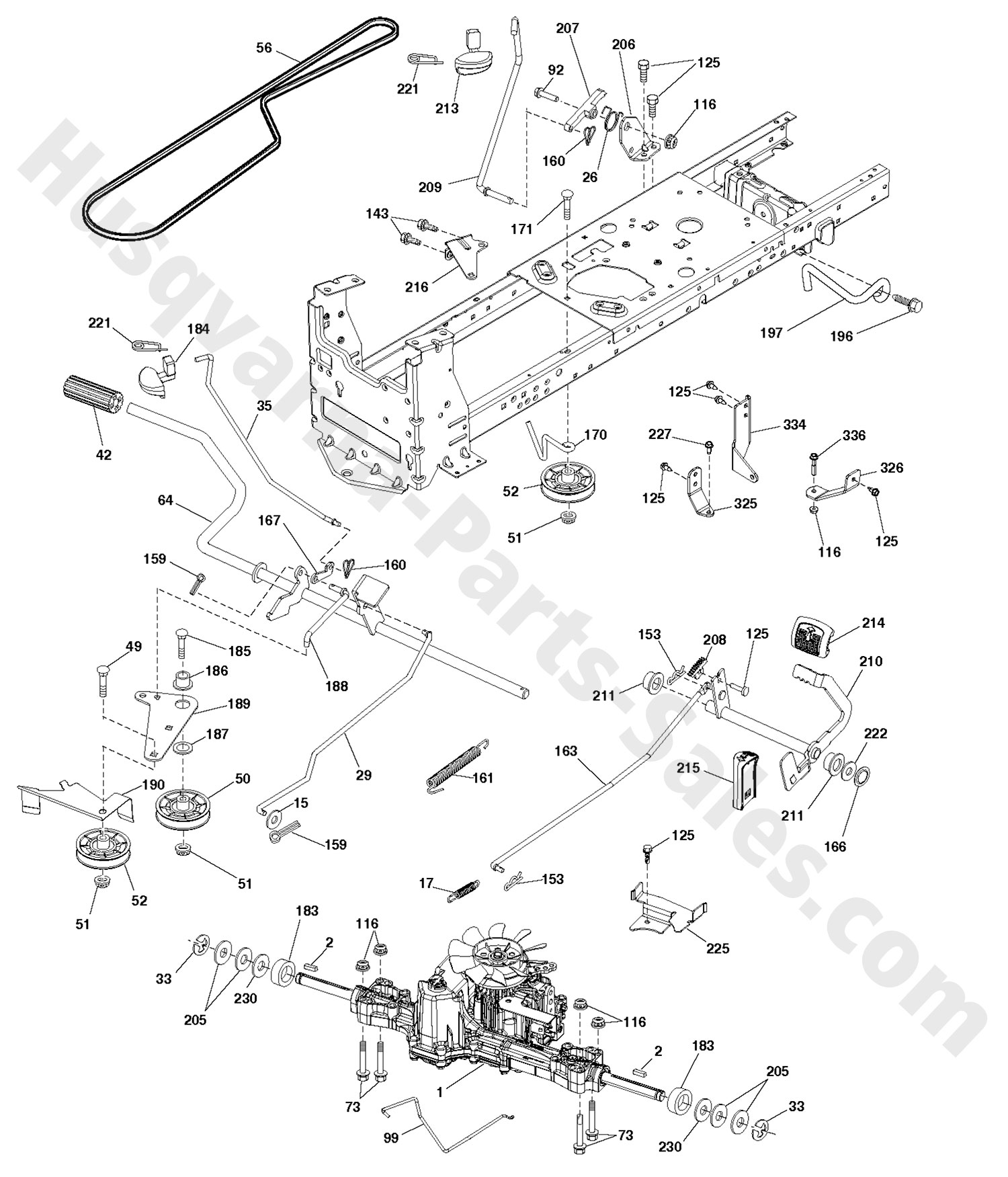 Mtd 46 Inch Mower Deck Parts Diagram Wiring Diagrams in addition Transmission Drive Belt Kevlar Fits Husqvarna Lth130 Replaces Oem 531006044 532140910 286 P also Engine Accessories as well Wiring Harness For A Huskee Lt4200 additionally Lawn Tractor Deck Belt 373721. on husky mower parts