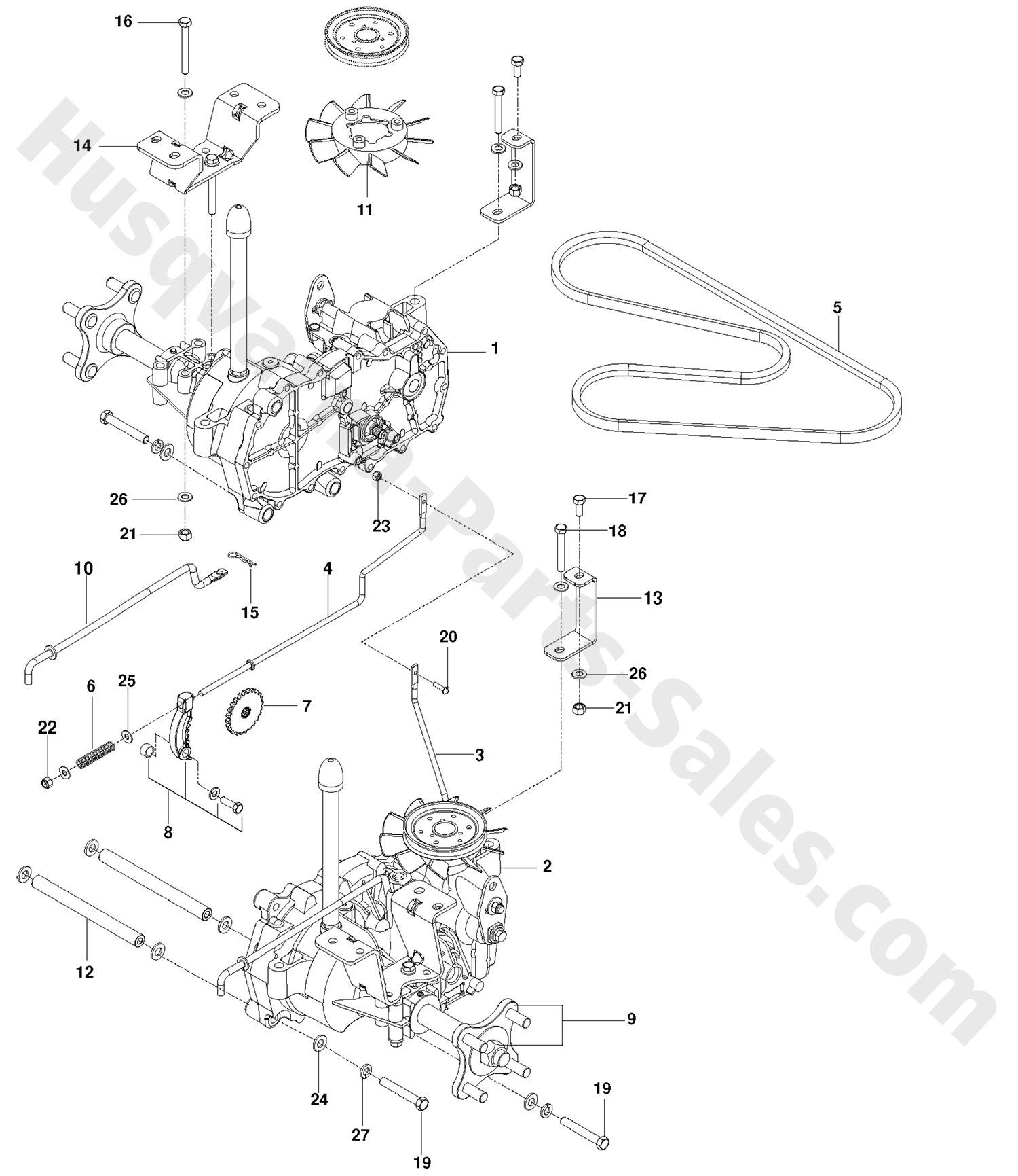 Rz4623 Husqvarna Ztr Mowers Hydraulic Pump Motor Parts