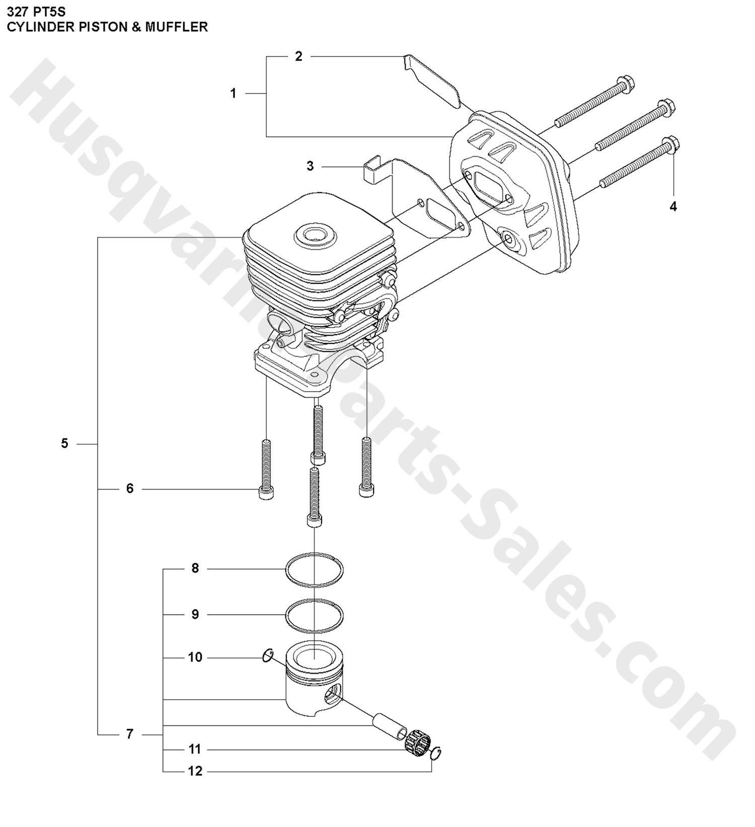 327 Chevy Blower Pistons: 327PT5S Husqvarna Pole Saw Cylinder, Piston & Muffler Parts