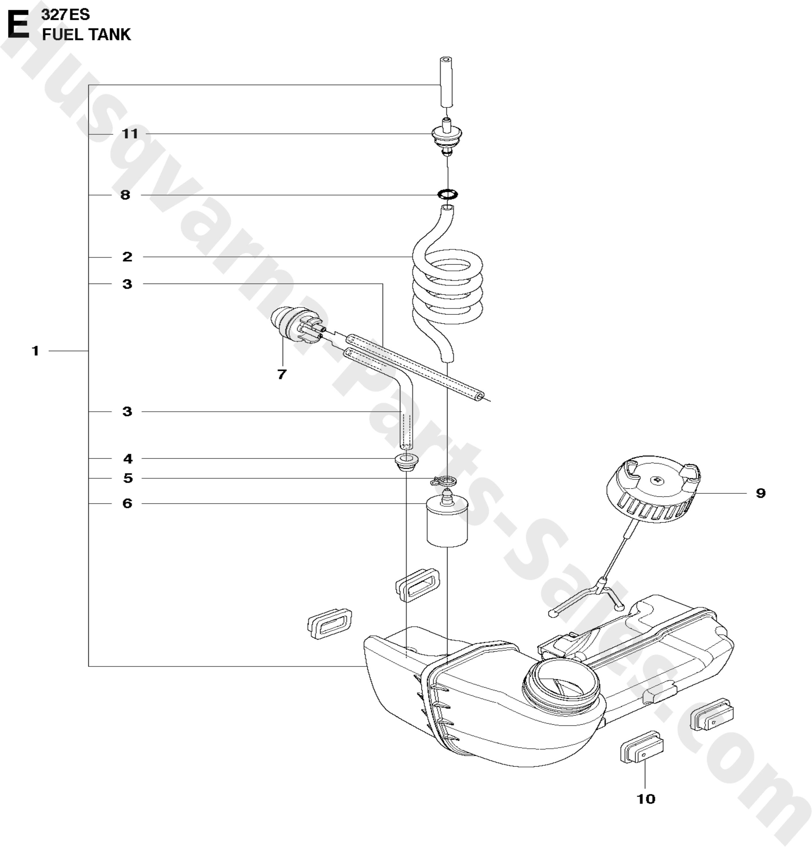 327ES Husqvarna Trimmer & Edger Edger Parts Fuel Tank Parts