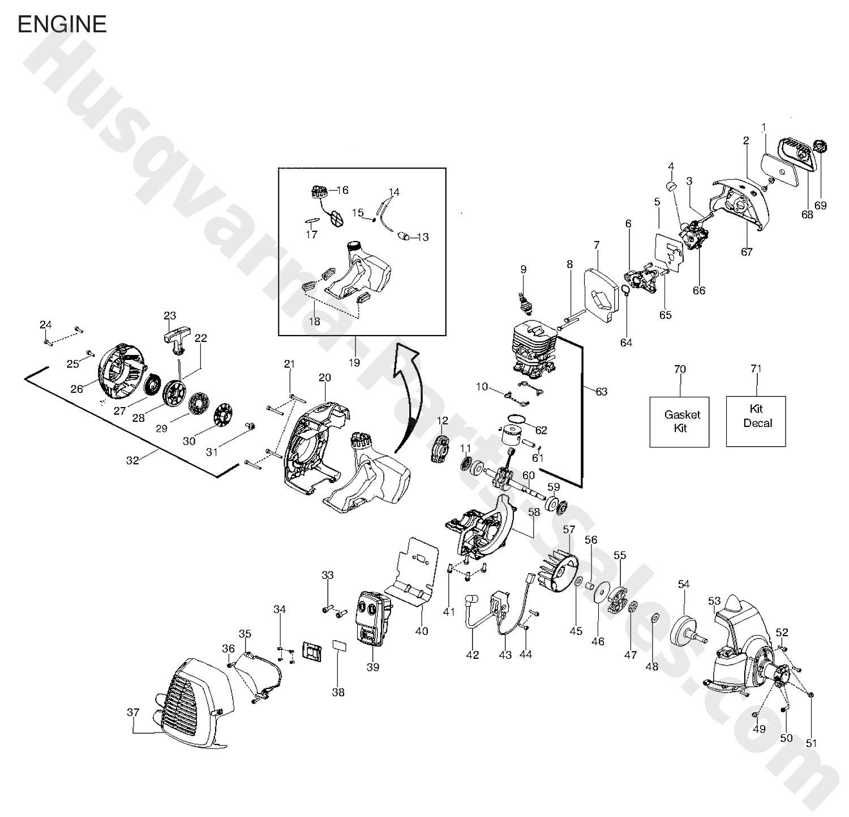 128ld husqvarna trimmer  u0026 edger trimmer parts engine parts