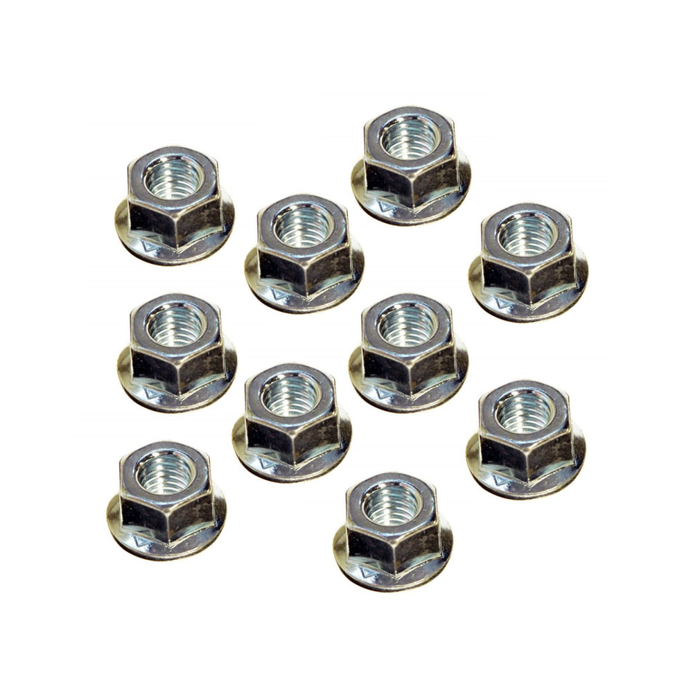 10 Pack Of Bar Nuts For Husqvarna Chainsaws 503220001