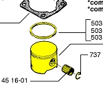 Husqvarna Piston Assembly 503608171