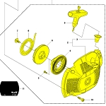 544071602 Husqvarna Starter Housing Assembly