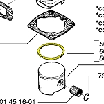 Husqvarna Piston Ring 544435001