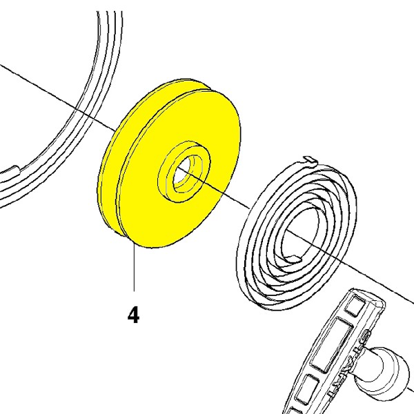 Husqvarna Starter Pulley 502843401 - Genuine Husqvarna Parts