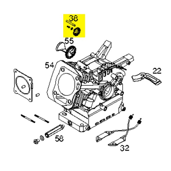 Husqvarna Governor Gear Assembly (Sk4142900) 532429312 - Genuine Husqvarna Parts