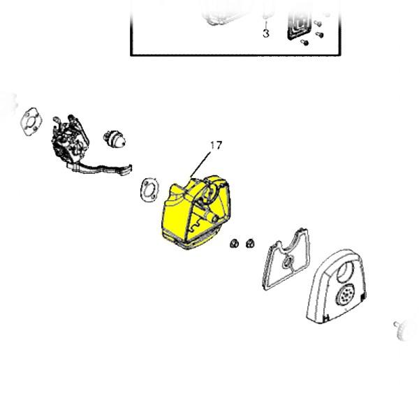 545109801 Air Box Base Original Husqvarna Part