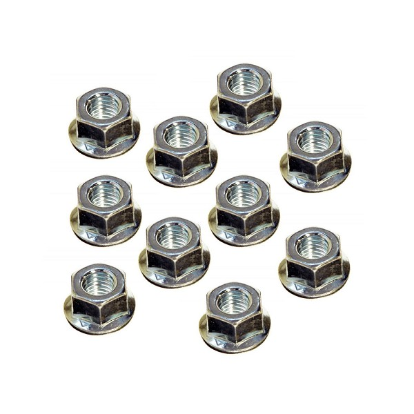 10 Pack Of Bar Nuts For Husqvarna Chainsaws 503220001 - Genuine Husqvarna Parts